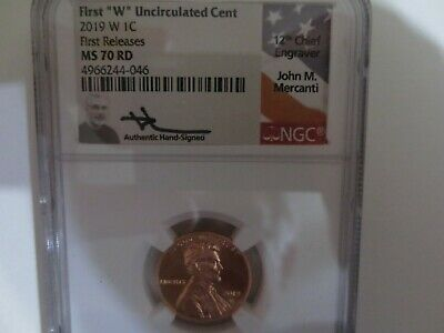 2019 W Lincoln Cent Ngc Ms70 Rd First Release Rare Mercanti Signed West Point