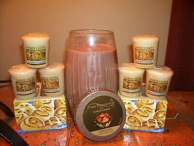 Yankee Candle 22oz Jar Pure Radiance Toasted Almond + Almond Cookie