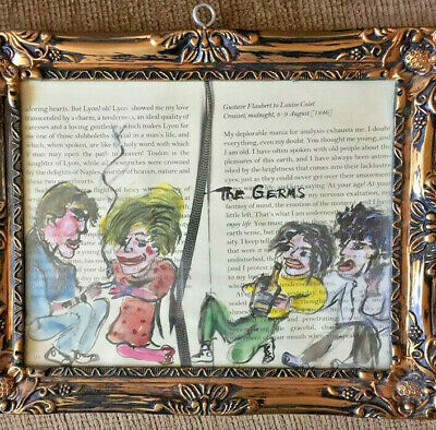 Tomata Du Plenty Original Painting Of The Germs Framed With Card Punk Art