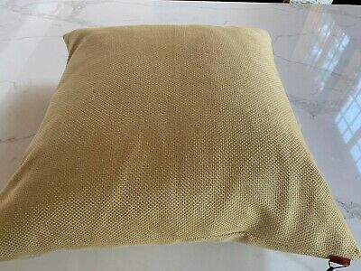 """Nwt $550 Missoni Home Light Gold Woven 26"""" Sq. Throw Pillow Includes Down Insert"""