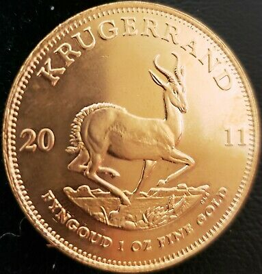 2011 South Africa 1 Oz Ounce Gold Krugerrand  Free Fast Priority Shippng