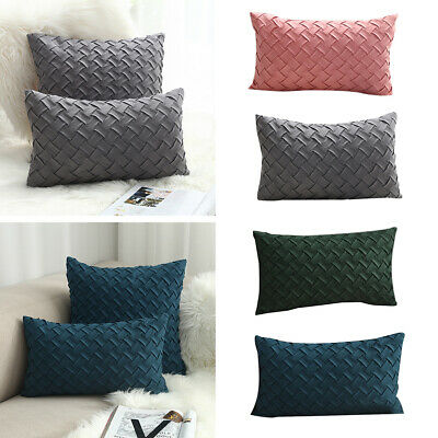 Cushion Covers Solid Color Comfortable Faux Suede Decorative Throw Pillow Covers