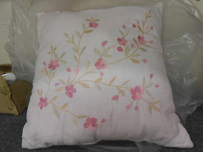 New Simply Shabby Chic Pink Flowered  Throw Pillow