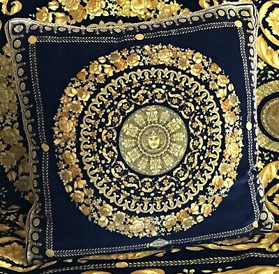 Authentic Versace Classic Barocco Throw Pillow