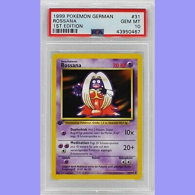 Pokemon 1st Edition Jynx (Rossana) 31/102 German Base Set PSA 10 Gem Mint
