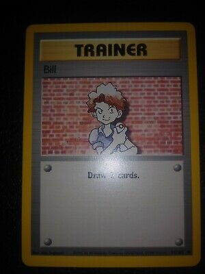 Pokemon Card Trainer Bill Base Set 91/102  Draw 2 Cards Nintendo