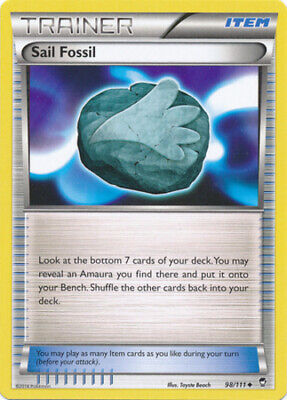 1x - Sail Fossil - 98/111 - Uncommon NM Pokemon Furious Fists
