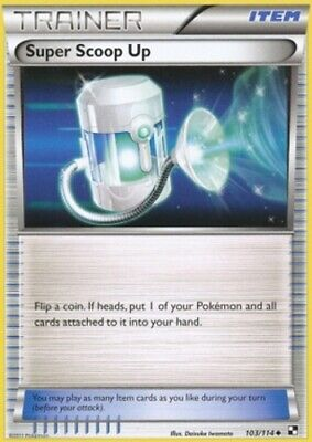 1x - Super Scoop Up - 103/114 - Uncommon LP, English Pokemon Black and White