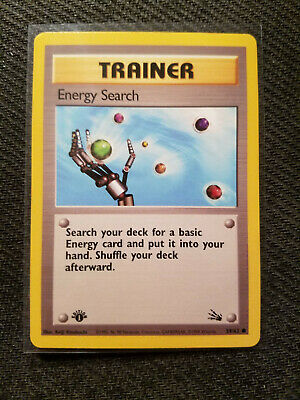 Pokemon Energy Search 59/62 Fossil Common 1st Edition NM/M
