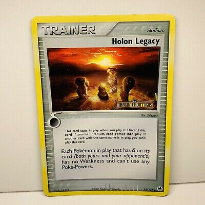 Holon Legacy 74/101 Trainer Rev Holo STAMPED EX Dragon Frontiers Pokemon Card