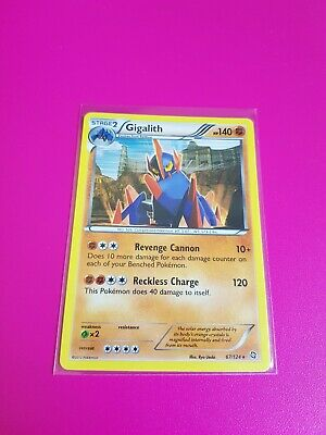Pokemon Gigalith Holo B&W Dragons Exalted 67/124 MINT