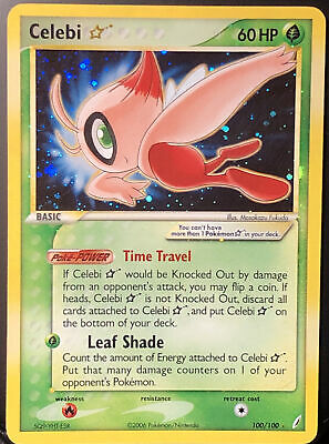 Pokemon Card🍃Celebi Gold Star Ultra Rare Holo 100🌟[Crystal Guardians 06] Shiny
