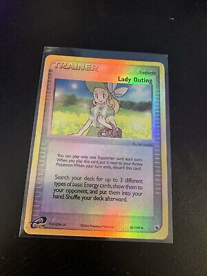 EX/LP Lady Outing 83/109 Reverse HOLO EX Ruby Sapphire Pokemon Card 2003