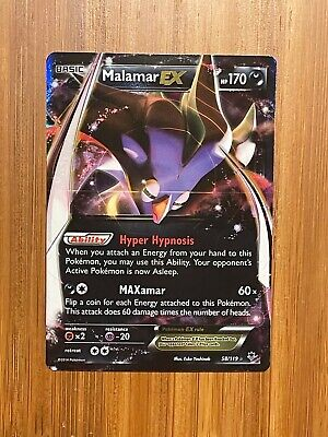 Pokemon Malamar Ex 58/119 Xy Phantom Forces Ultra Rare Nm/mint