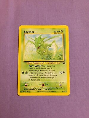SCYTHER 46/75 NEO DISCOVERY POKEMON CARD Very LP see pics*