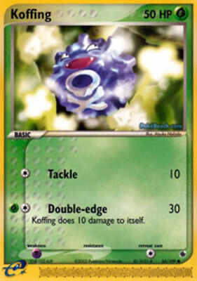 1x - Koffing - 54/109 - Common DMG, English Pokemon EX Ruby and Sapphire