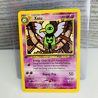 1x 1st Edition Xatu 52/75 Neo Discovery Pokemon Card EX