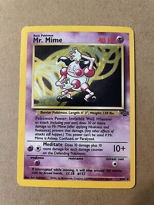 Mr. Mime | Pokemon Jungle Set | Unlimited Holo | 6/64 | TCG MP Moderate