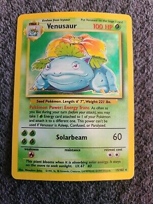 Pokemon Venusaur Base Set 15/102 Shadowed Holographic