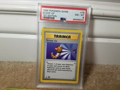 Psa 8 Nm-m 1999 Pokemon Base Set 1st Edition Scoop Up Card 78/102 Thick Stamp