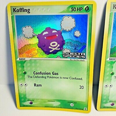 1x Koffing 72/113 Reverse Holo Stamped EX Delta Species Pokemon Card