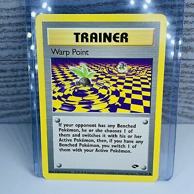 1x Warp Point Trainer 126/132 Gym Challenge Pokemon Card Excellent