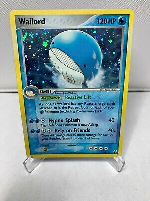 2006 Pokemon Card EX Legend Maker Wailord - Holo Foil #14