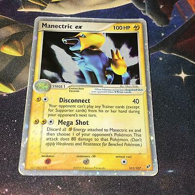 Manectric EX ~ 101/107 ~ Holofoil ~ EX DEOXYS ~ MODERATE PLAY ~ Pokemon Card