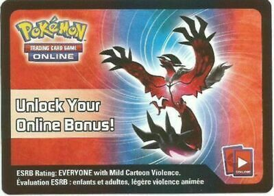 Pokemon Yveltal EX XY08 Spring 2014 Tin Booster Code Card Email x1