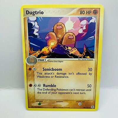Dugtrio 22/112 RARE EX FireRed & LeafGreen Pokemon Card Excellent