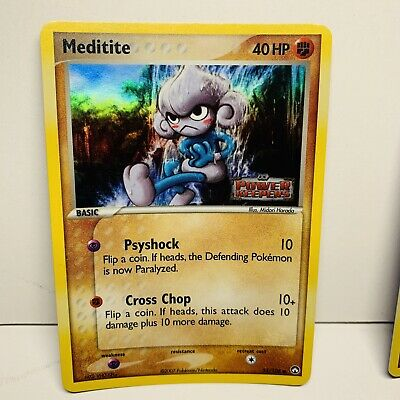 1x Meditite 55/108 Reverse Holo Stamped EX Power Keepers Pokemon Card
