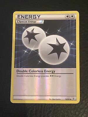 Pokemon Card Double Colorless Energy 74/83 Reverse Holo XY Generations Excellent