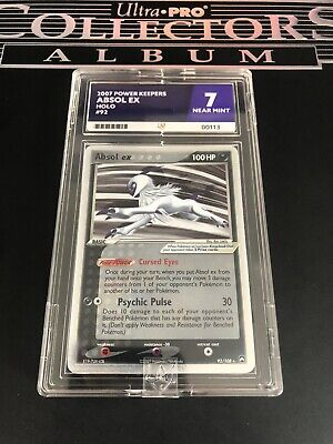 Absol Ex 92/108 Pokemon Ex Power Keepers 2007 Ace Grading NM 7