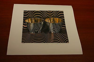 wave cups a lithograph by jeanette pasin sloan
