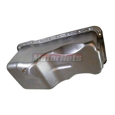 Ford Raw Steel Oil Pan 69-91 V8 351w Windsor Mustang Front Sump Hot Rat Rod