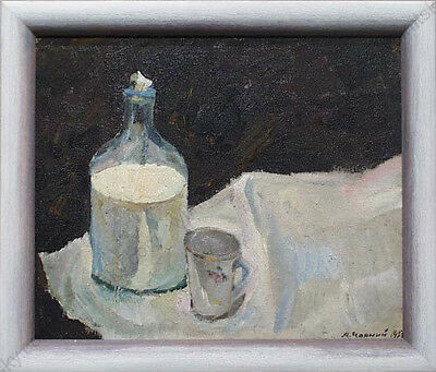 """""""still Life With Milk Bottle"""" By Michail Chorny (b.1933), Oil Painting, 1959"""