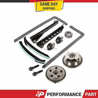 Timing Chain Kit Cam Phaser For 04-10 Ford F150 F250 Lincoln 5.4 Triton 3-valve