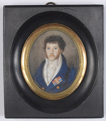 "Carl Ch. Fiedler ""retired Saxonian Major Ferdinand Gordon"", Miniature, 1816"