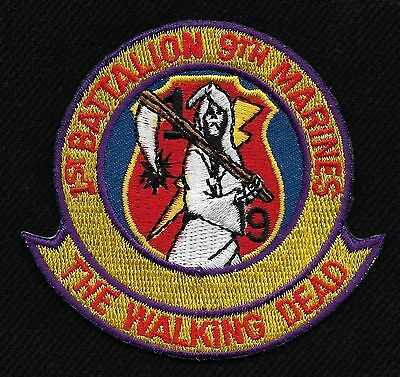 Usmc 1st Battalion 9th Marines Military Patch The Walking Dead