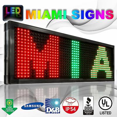 """Led Sign Size 28"""" X 91"""" Programmable Message Outdoor 20mm Rgy Led Display Usa"""