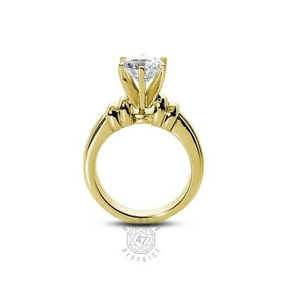0.56ct. I-si1 Ex Round Natural Agi Diamond 18k Gold Vintage Wedding Ring 11.92g