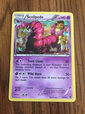 Pokemon Card - Emerging Powers 40/98 - SCOLIPEDE (holo-foil) - NM