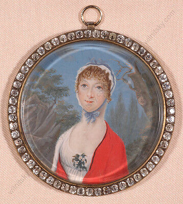 "Carl Hummel De Bourdon (1769-1840)-attrib. ""portrait Of A Lady"", Miniature"