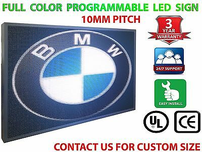 """12"""" X 125"""" Outdoor Full Color Programmable Business P10 Led Sign Open Store Shop"""