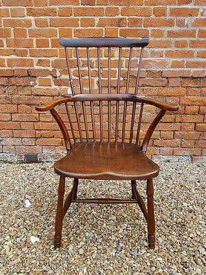 18th Century English Antique Comb Back Windsor Armchair, Circa 1776