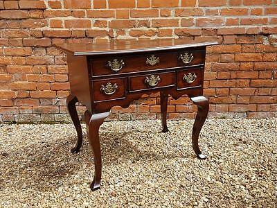 18th Century English Antique Oak Lowboy Or Side Table, Circa 1740