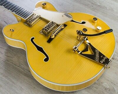 Gretsch G6122tfm Players Edition Country Gentleman Guitar Flame Maple Amber