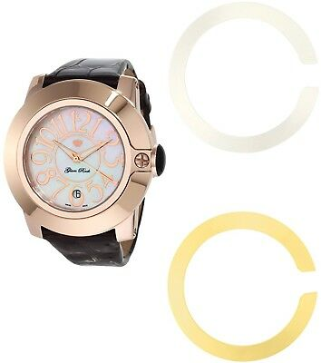 glam rock unisex quartz watch multicolour dial analogue display and strap