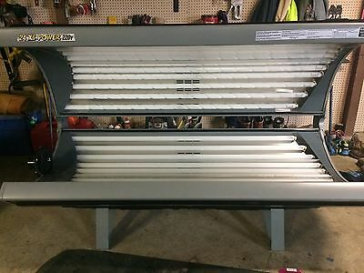 commercial sunco 24 xs power 220v tanning bed