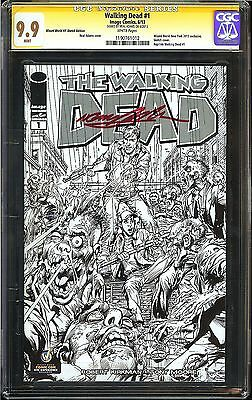 The Walking Dead #1 Cgc 9.9 Mint Signed In Blood Red Neal Adams Sketch Nyc Vip!!
